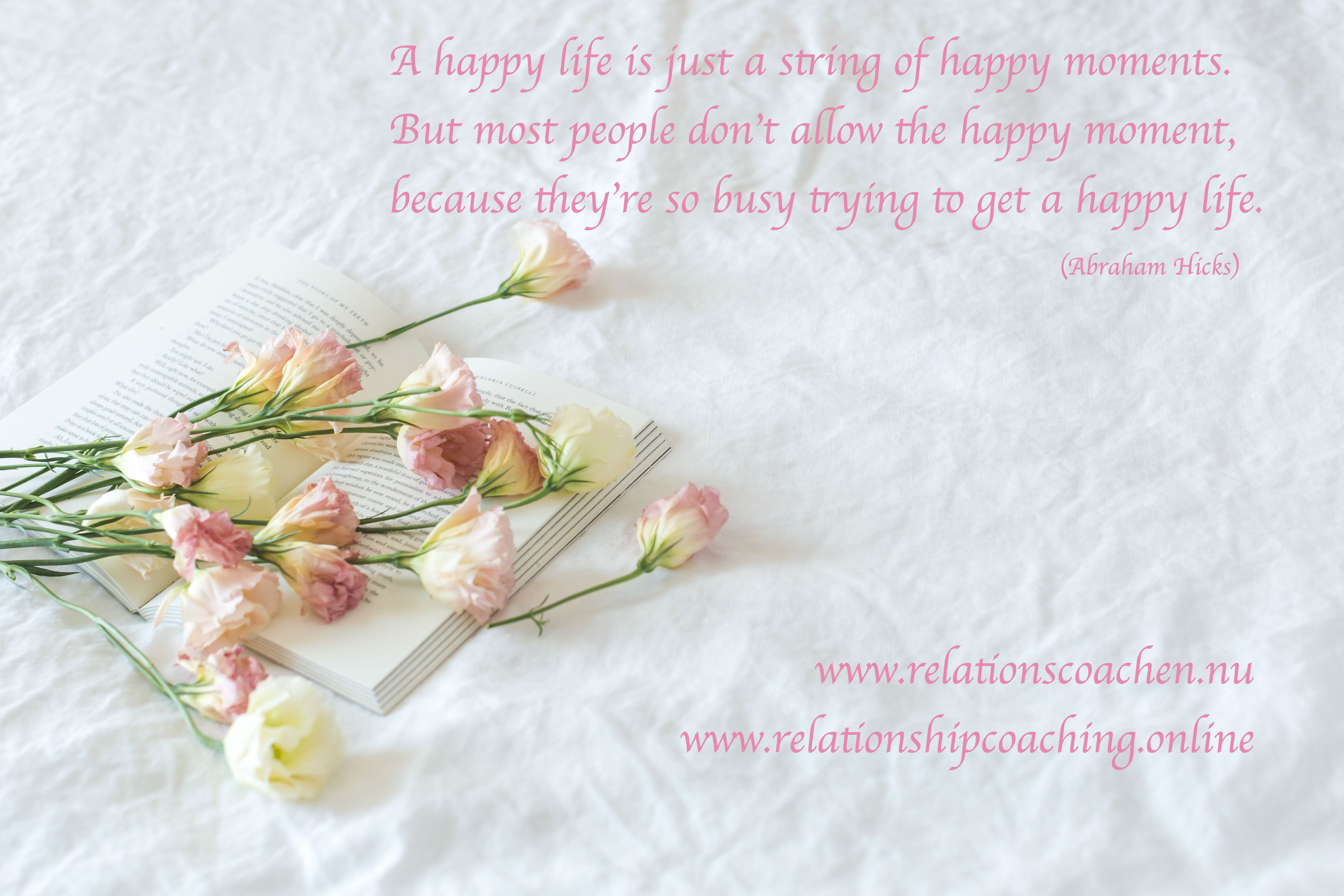 A happy life is just a string of happy moments